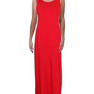 Lubov  Linen Full-Length Tank Dress